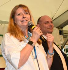 Photographie de Madame Blandinières, Présidente de l'Association et Monsieur Kahn, Directeur Général de l'Adapei des Landes