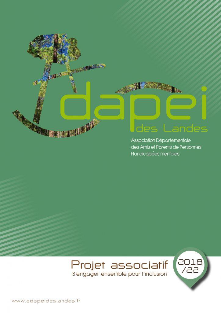 Page de couverture du Projet Associatif de l'Adapei des Landes 2018-2022